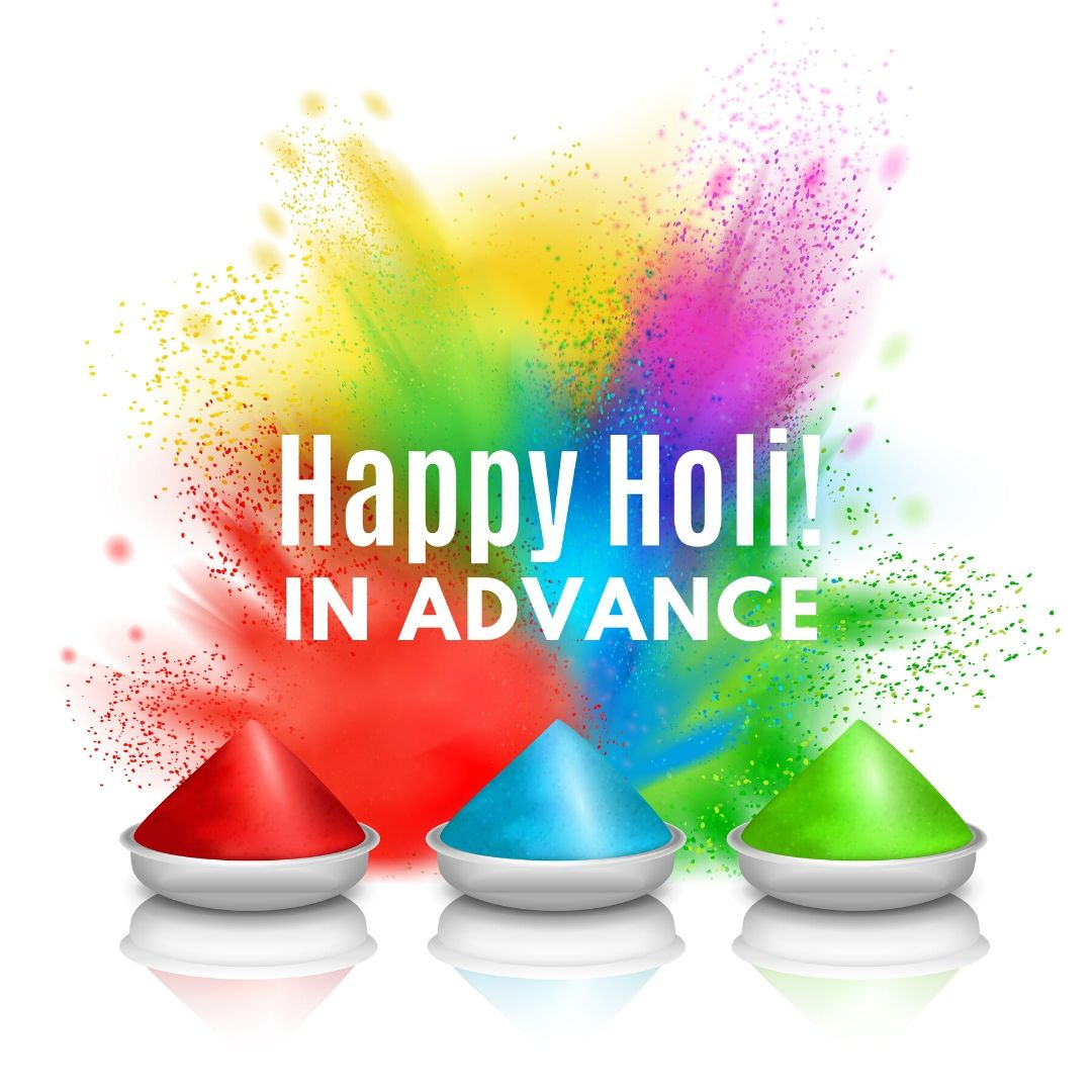 advance happy holi image