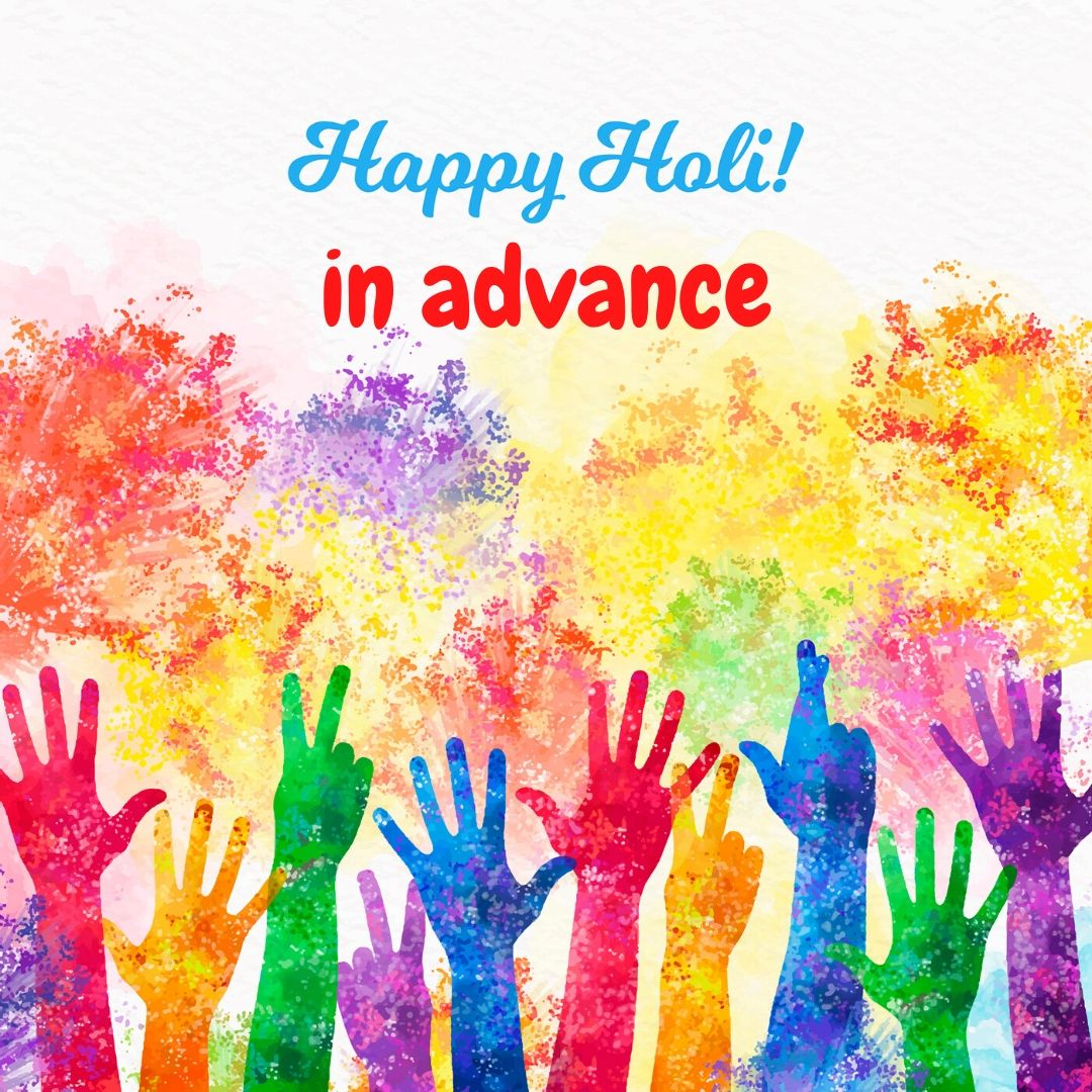 happy holi in advance image